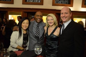 Carolyn with ESPN colleagues at duPont award ceremony, 2014